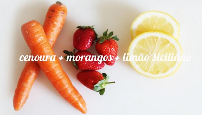 juicing cenoura morango limao